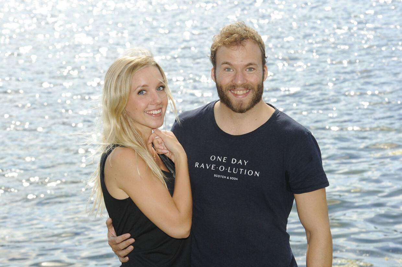 Simon Talbot og hans forlovede Katrine Køhler.