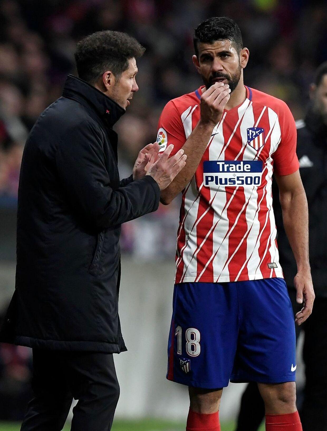 To gange Diego - to gange vilddyr: Træner Simeone sparer Costa mod FCK