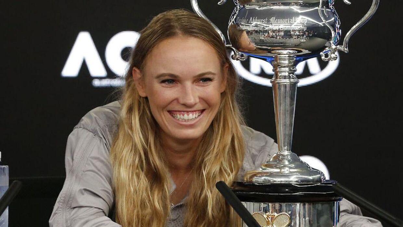Caroline Wozniacki har fået slappet af siden Australien Open-triumfen. (Foto: EDGAR SU/Scanpix 2018)