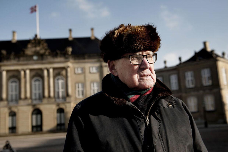 Anker Andersen, 85 år. Han var Prins Henriks tidligere kammertjener.
