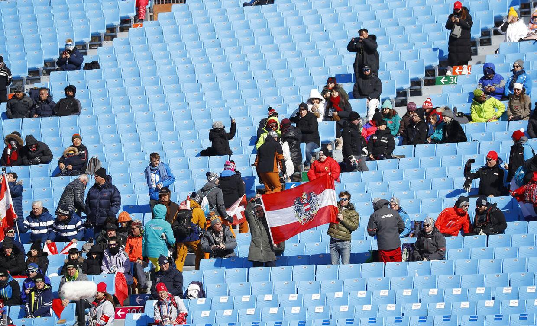 Der er langt mellem langrend-fansene i Pyeongchang.