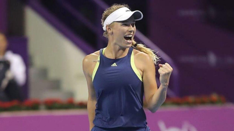 Caroline Wozniacki vandt fredag aften over Angelique Kerber.