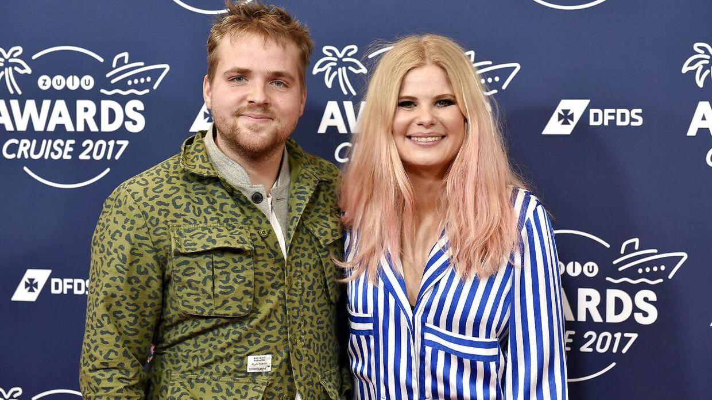 Sofie Linde og Joakim Ingversen ved ZULU Awards 2017.