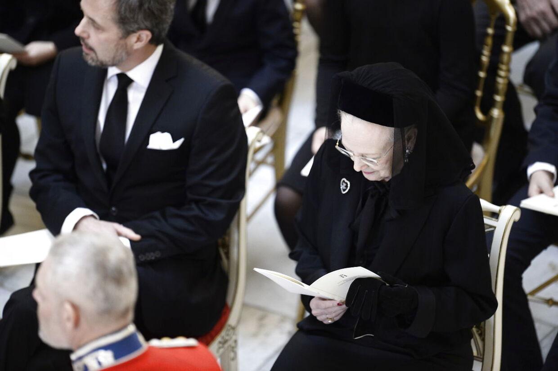 Dronning Margrethe og kronprins Frederik.