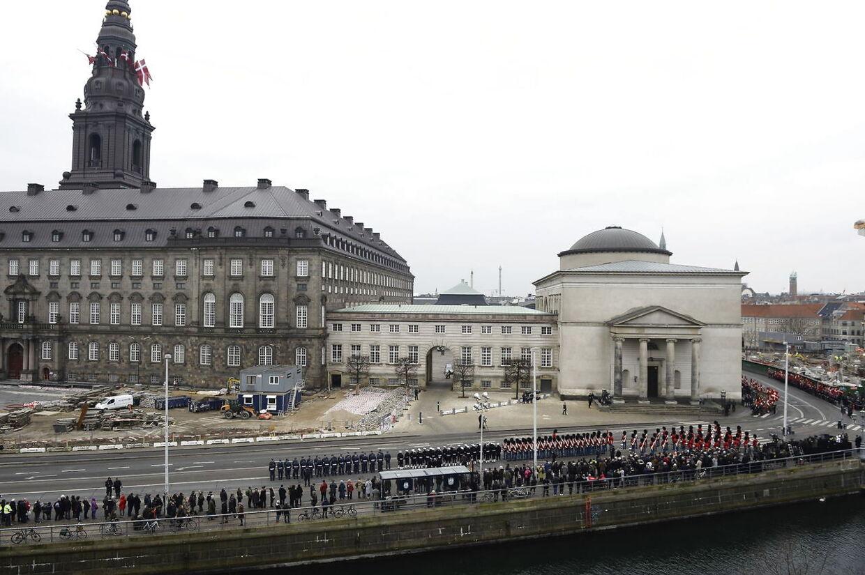 Prins Henrik bisættes fra Christiansborg Slotskirke i København, tirsdag den 20. februar 2018.