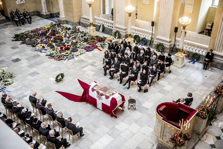 Prins Henriks bisættelse i Christiansborg Slotskirke i København.