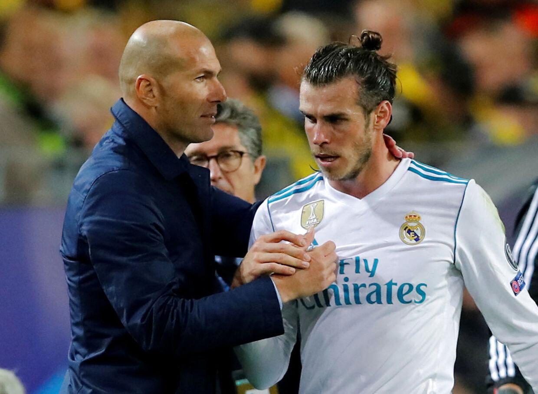 Træner Zinedine Zidane og Gareth Bale.