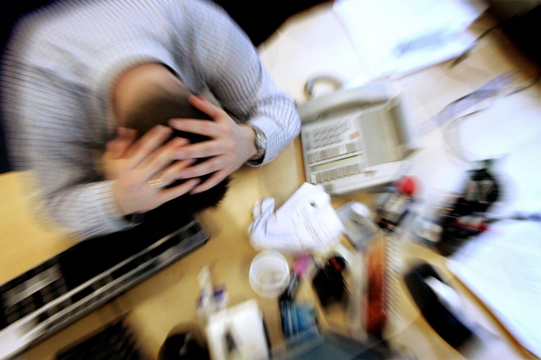 Pensionsselskaberne melder om stigende problemer med stress blandt selskabernes kunder. Scanpix/Jens Nørgaard Larsen