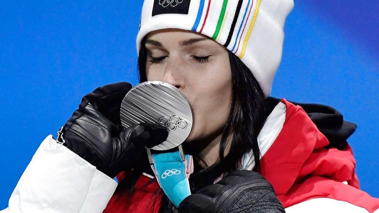 Anna Veith vandt sølv ved OL.