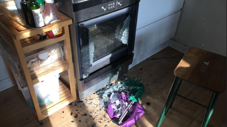 Kamilla Langes ovn eksploderede pludselig, mens hun varmede mad.