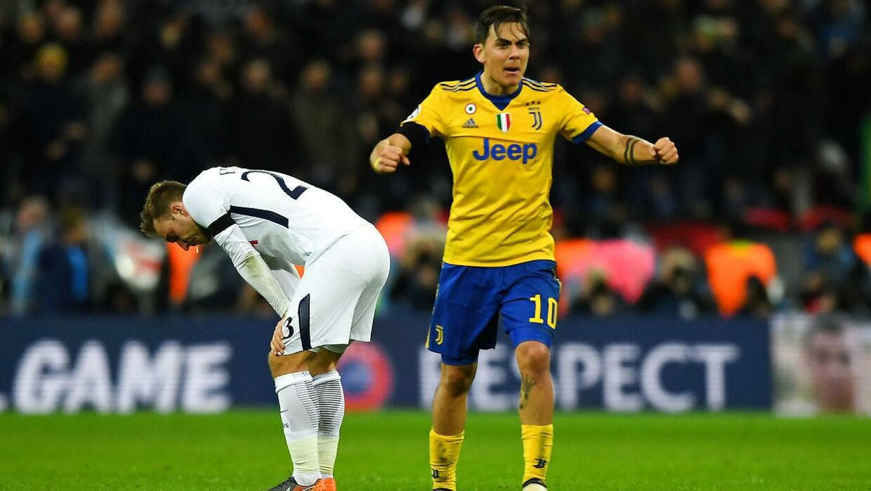 Christian Eriksen (tv) var meget skuffet, efter at Tottenham havde smidt sejren væk mod Juventus, som nu er klar til kvartfinalerne i Champions League.