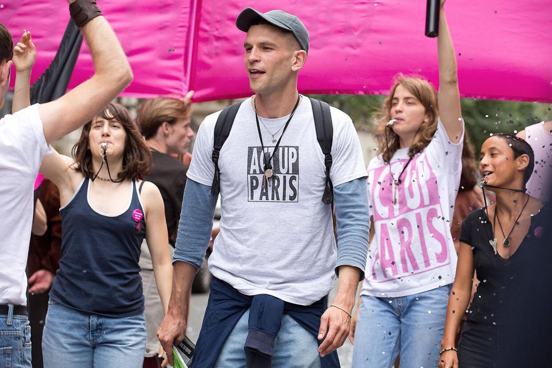 Arnaud Valois spiller den eftertænksomme, maskuline Nathan, som er hiv negativ og nyankommen til aktivistgruppen. Foto: Camera Film