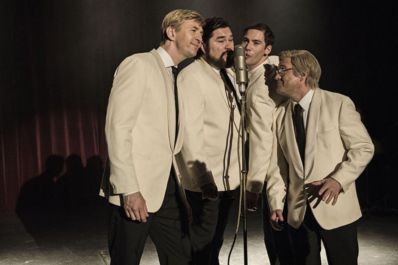 John Mogensen blev først landskendt i kvartetten Four Jacks, hvor også Otto Brandenburg indledte sin karriere. Foto: Nordisk Film
