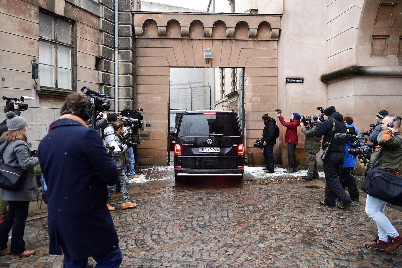 Peter Madsen i Københavns Byret, sigtet for drabet på den svenske journalist Kim Wall i hans hjemmebyggede ubåd, tilbage i august 2017. (Foto: Bax Lindhardt)