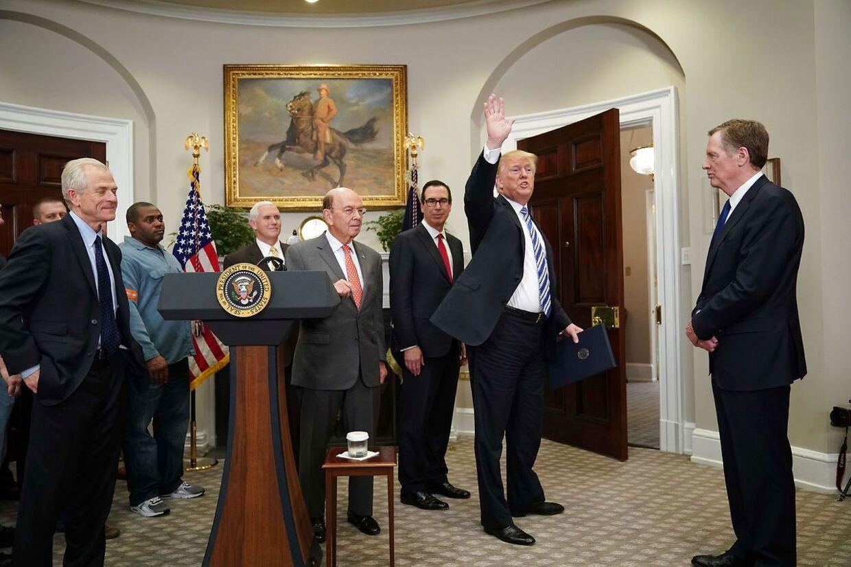 Donald Trump. Det Hvide Hus. Den 8. marts.
