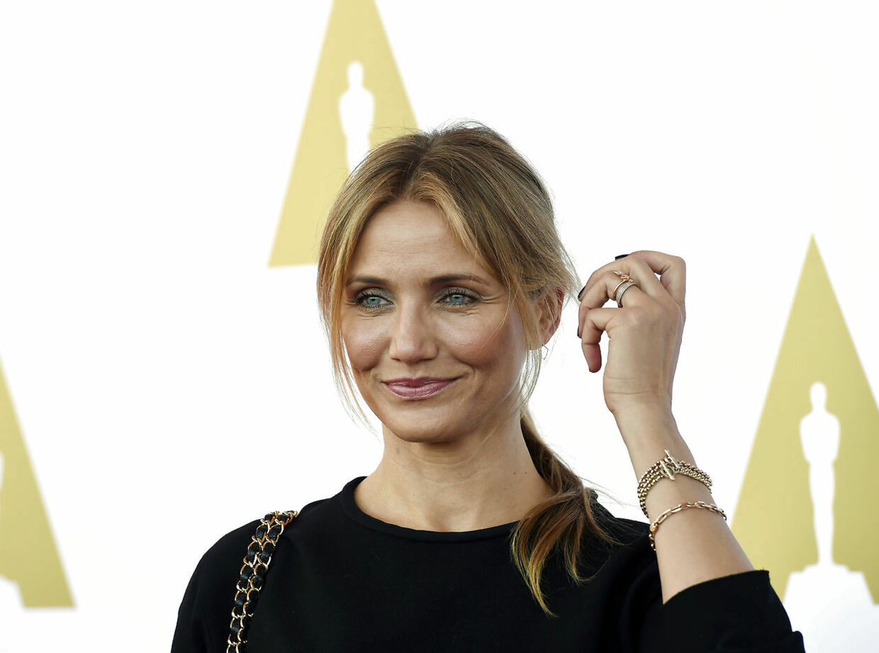 Actress Cameron Diaz attends a private luncheon in celebration of Hollywood Costume at the future home of the Academy Museum of Motion Pictures in Los Angeles, California October 8, 2014. REUTERS/Kevork Djansezian (UNITED STATES - Tags: ENTERTAINMENT)