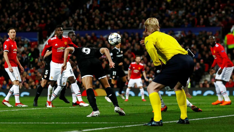 Wissam Ben Yedder scorer for FC Sevilla mod Manchester United.