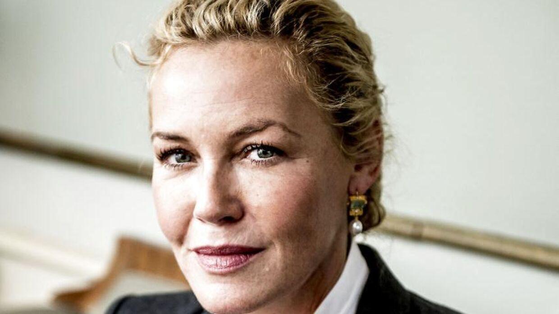 Connie Nielsen fortæller ærligt, at det værste ved skilsmissen fra trommeslager Lars Ulrich, var, at hun samtidig mistede sine to stedsønner. Her er hun fotograferet under pressemødet på DR tv-serien LIBERTY.