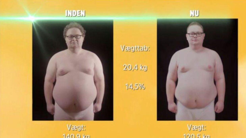 Henrik tabte flotte 20,4 kilo i 'Min fede træner'.