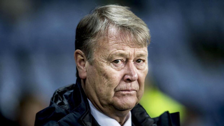 Danmarks cheftræner Åge Hareide under venskabskampen mellem Danmark og Panama på Brøndby Stadion, torsdag den 22. marts 2018.