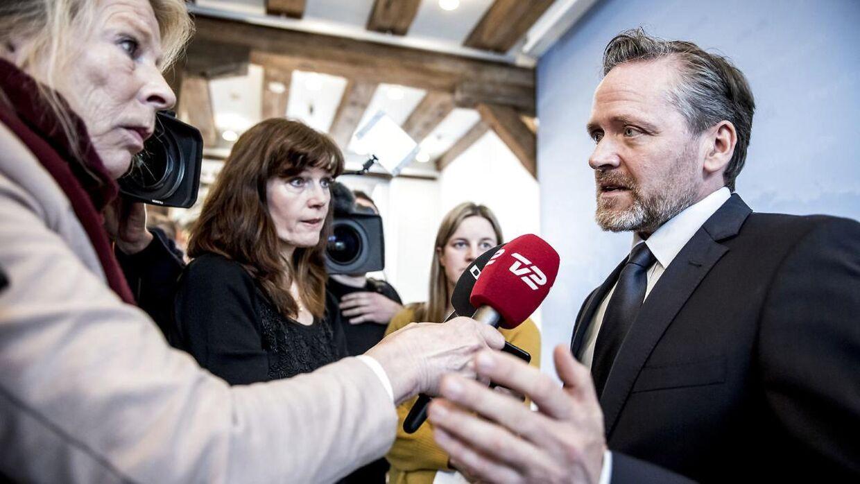 Udenrigsminister Anders Samuelsen (LA) holder pressemøde i Udenrigsministeriet i København om sanktioner mod Rusland, mandag den 26. marts 2018.