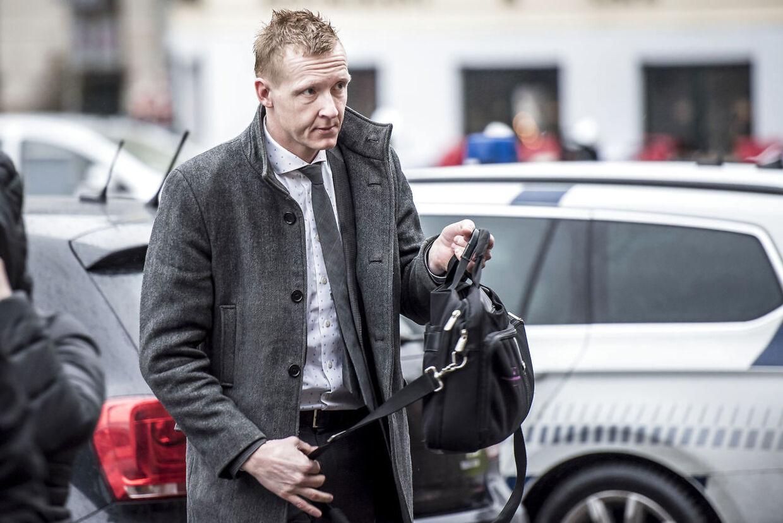 Anklager Jakob Buch Jepsen ankommer til Københavns Byret.