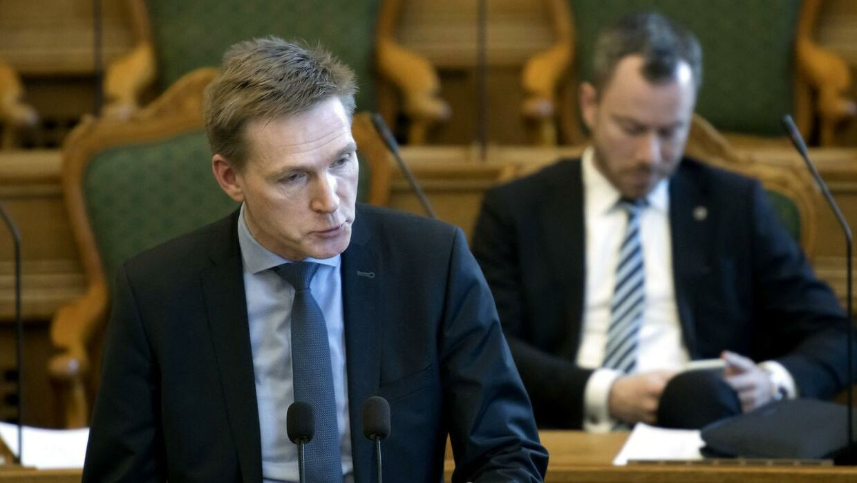 Kristian Thulesen Dahl (DF) under spørgetime med statsminister Lars Løkke Rasmussen (V) i Folketingssalen på Christiansborg, tirsdag den 20. marts 2018. (foto Keld Navntoft/Ritzau Scanpix 2018