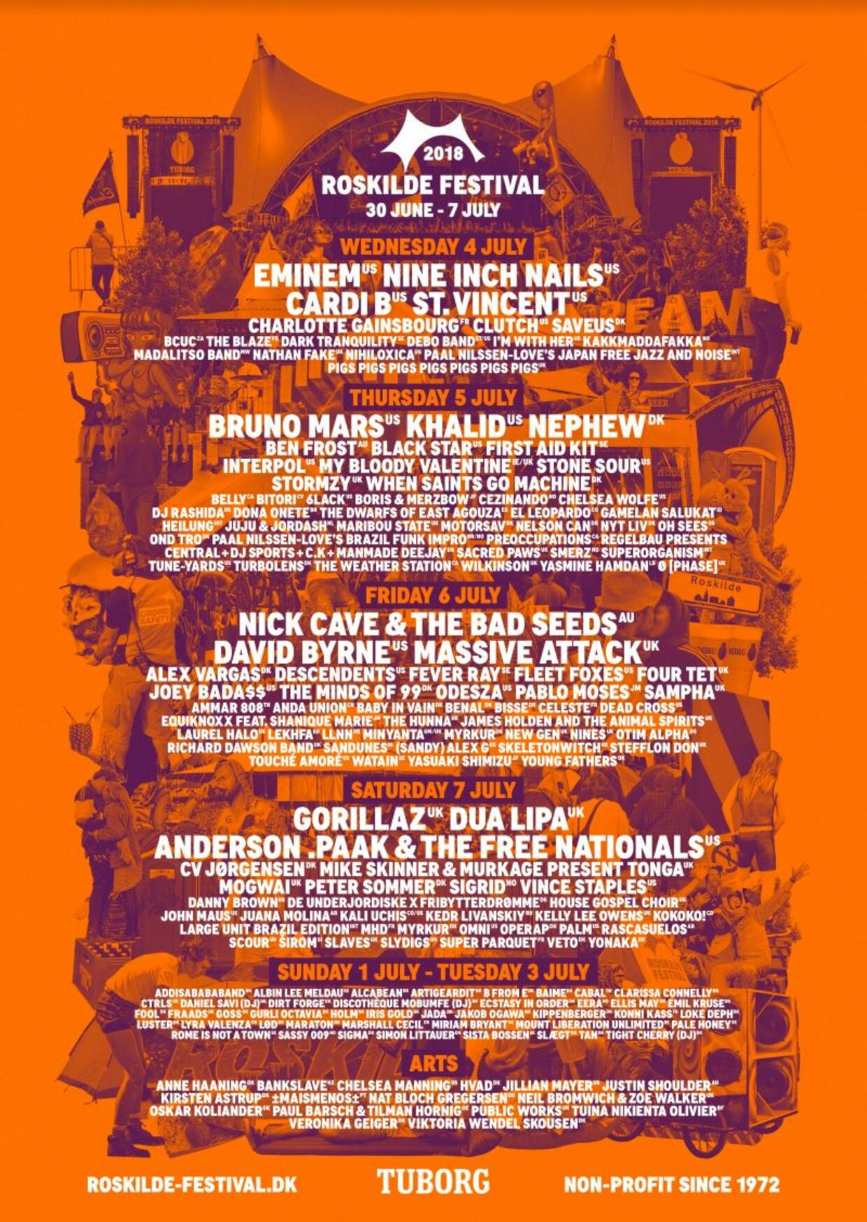 Roskilde Festivals plakat for 2018.