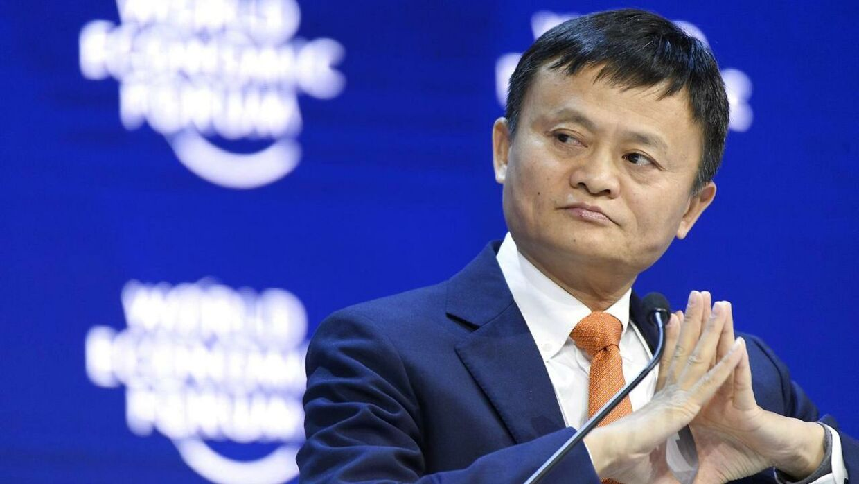 Jack Ma, grundlæggeren af Alibaba Group, under World Economic Forum i Schweiz i januar.
