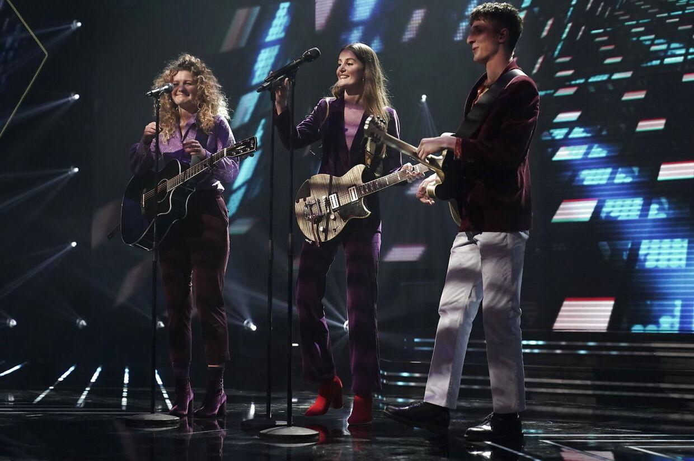 Place on Earth på scenen under X Factor finalen i DR-Byen, fredag den 6. april 2018.. (Foto: Martin Sylvest/Scanpix 2018)