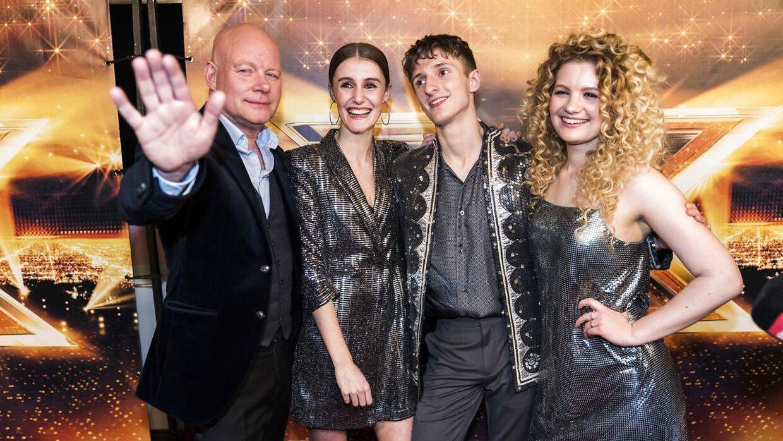 Thomas Blachmann og Place On Earth. X Factor Finale, sæson 11 liveshow 7, fredag den 6. april 2018. (foto: Martin Sylvest/Scanpix Ritzau 2018)