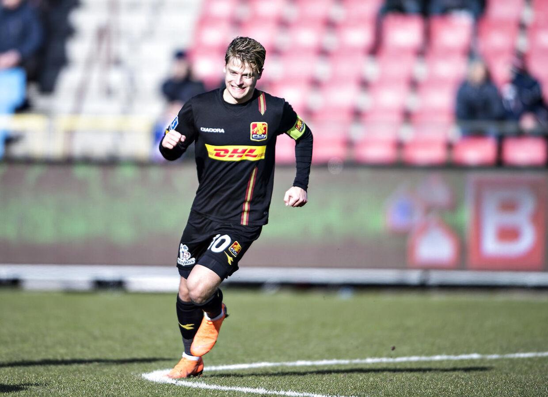 FC Nordsjællands Mathias Jensen er brandvarm. (Foto: Henning Bagger/Scanpix 2018)