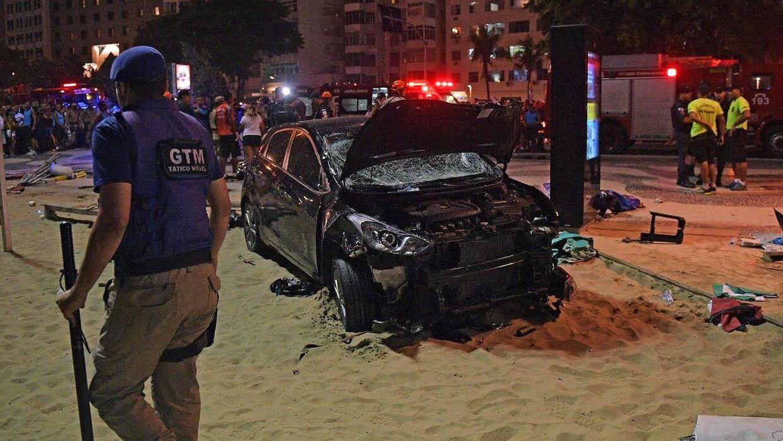 Billede fra bilulykken i januar.