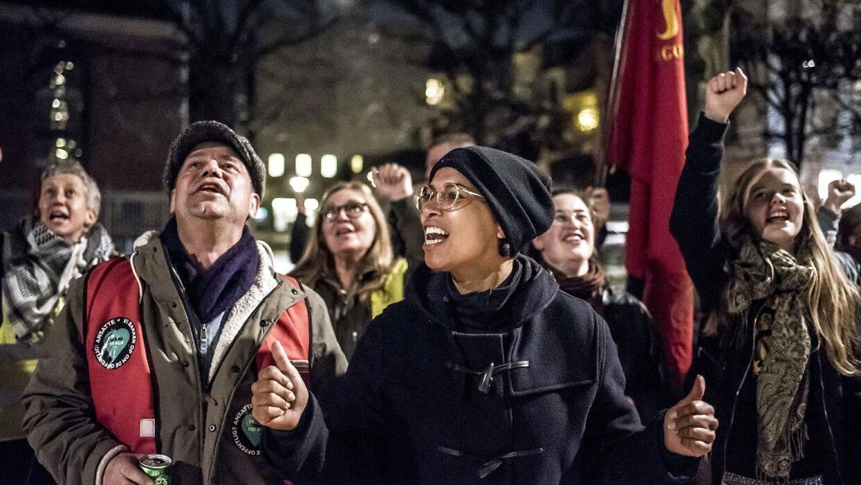 ARKIVFOTO fra forsamlingen foran Forligsinstitutionen i København.