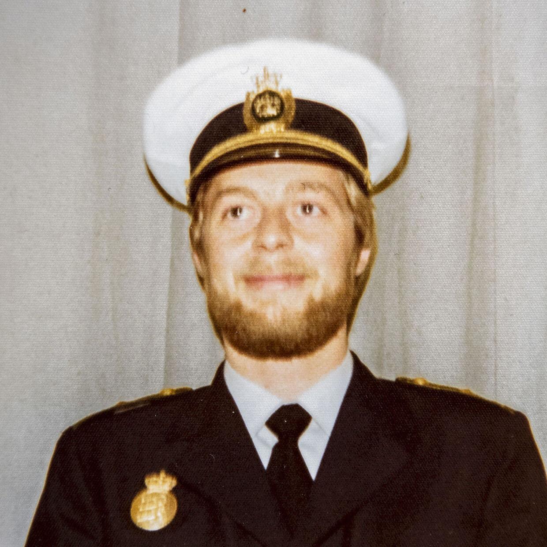 Bent Isager-Nielsen som ung nystartet betjent i 1974.