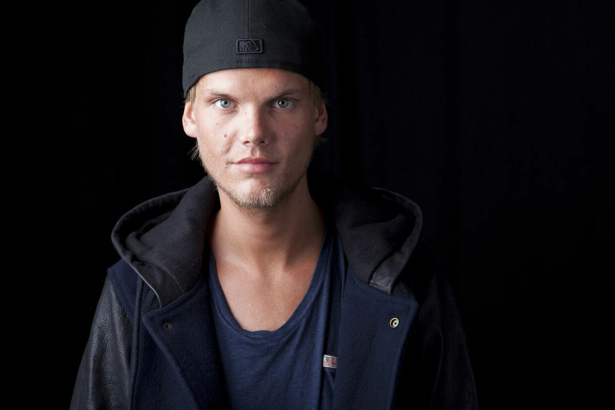 FILE - In this Aug. 30, 2013 file photo, Swedish DJ-producer, Avicii poses for a portrait in New York. Swedish-born Avicii, whose name is Tim Bergling, was found dead, Friday April 20, 2018, in Muscat, Oman. He was 28. (Photo by Amy Sussman/Invision/AP, File)