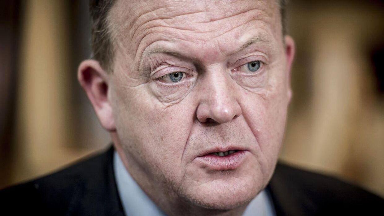 Statsminister Lars Løkke Rasmussen (V).