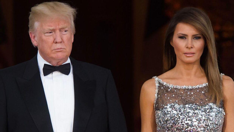 Præsident Donald Trump og førstedamen Melania Trump