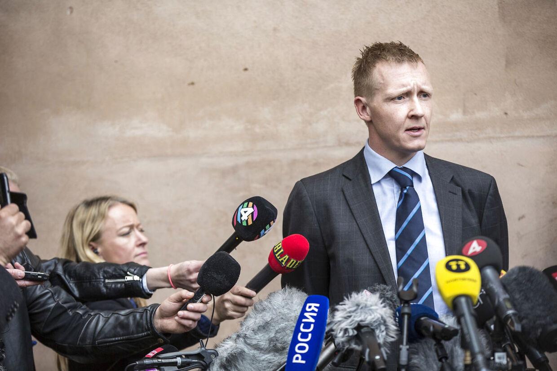 Anklager Jakob Buch-Jepsen efter domsafsigelse i ubådssagen mod Peter Madsen i Københavns byret onsdag d. 25. april 2018.. (Foto: Nikolai Linares/Ritzau Scanpix)