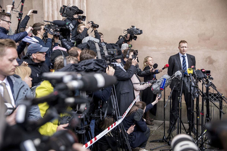 Anklager Jakob Buch-Jepsen efter domsafsigelse i ubådssagen mod Peter Madsen i Københavns byret.