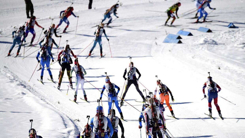 En 17-årig, russisk skiskyder har beskyldt en af sine trænere for at have tilbudt hende en landsholdsplads i bytte for seksuelle ydelser. Atleten er ikke at finde på dette billede, som er taget under VM i skiskydning i 2017.