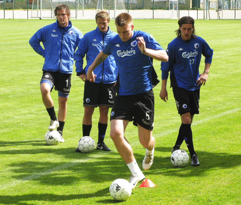 Niclas Bendtner træner med FCK i 2007.