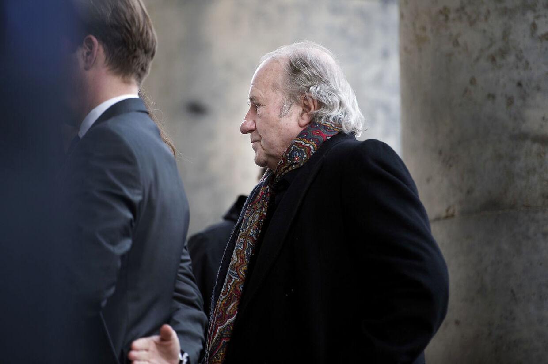 Erik Brandt ved ankomsten til prins Henriks Castrum Doloris for særligt indbudte i Christiansborg Slotskirke.