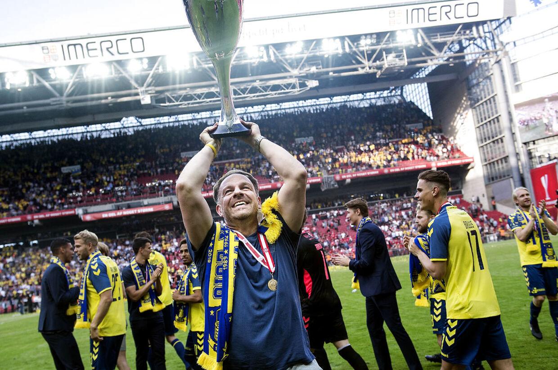 Brøndbys Cheftræner Alexander Zorniger efter DBU pokalfinalen mellem Silkeborg IF - Brøndby IF i Telia Parken torsdag den 10 maj 2018