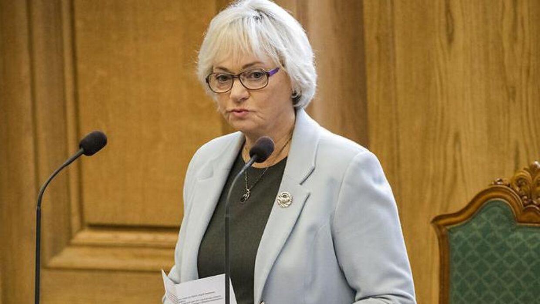 Folketingets formand Pia Kjærsgaard (DF) (Foto: Søren Bidstrup/Scanpix 2017)