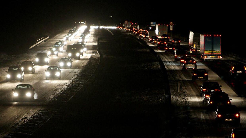 Køge Bugt Motorvejen om natten