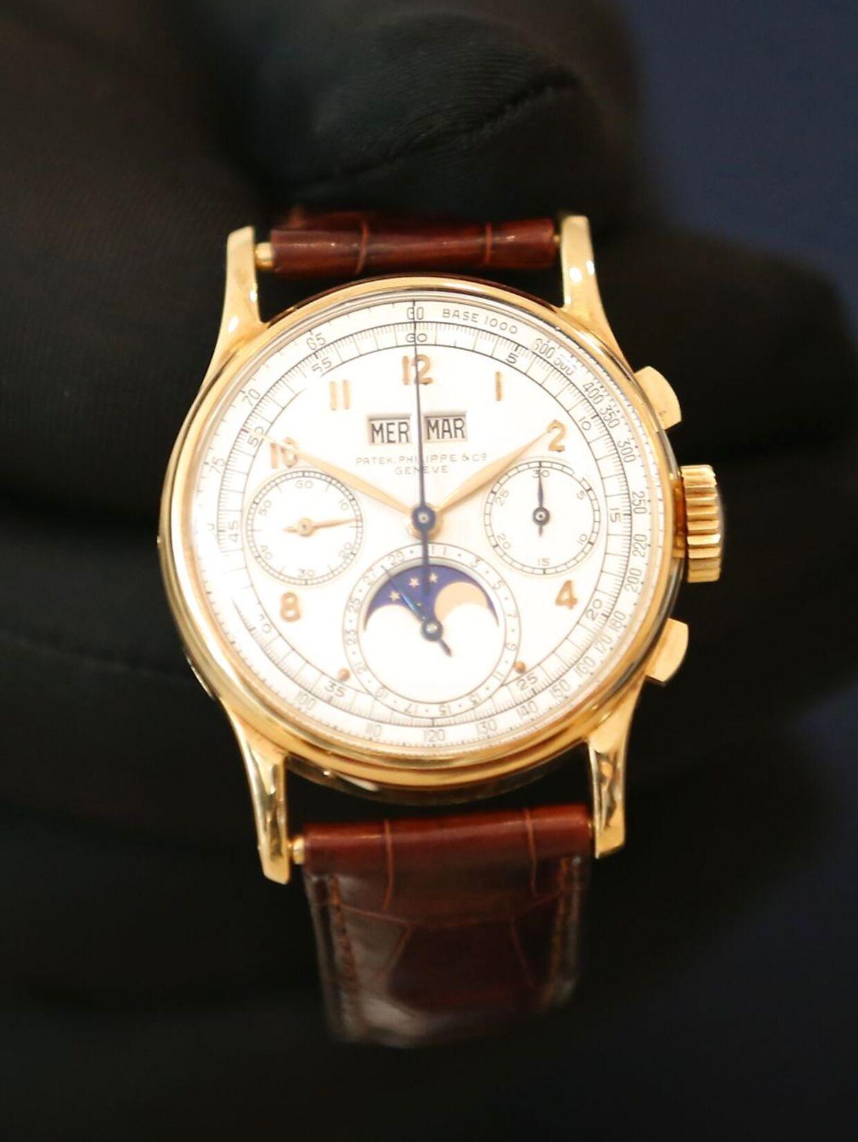 Kong Farouk af Egypten (1920 - 1965) bar dette Patek Phillipe ur.