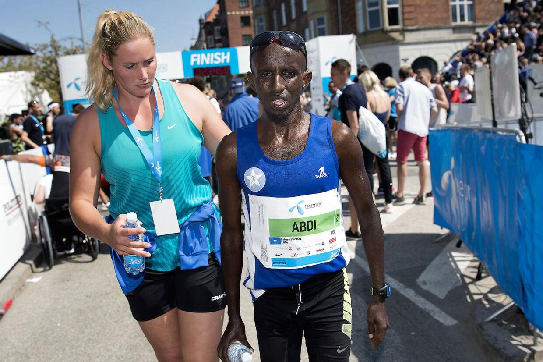 Her ses Daud Roble Abdi fra Somalia, der deltog i Copenhagen Marathon 2018