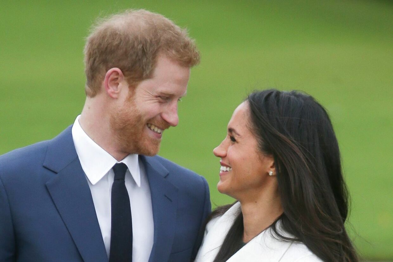 Prins Harry og Meghan Markle, da de blev forlovet i efteråret.