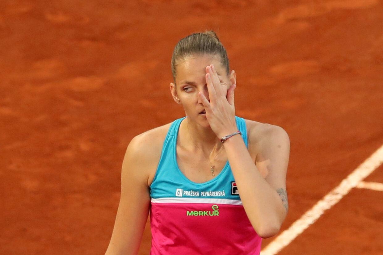 Karolína Plísková var rasende efter et nederlag i Rom onsdag eftermiddag. Reuters/Susana Vera/arkiv